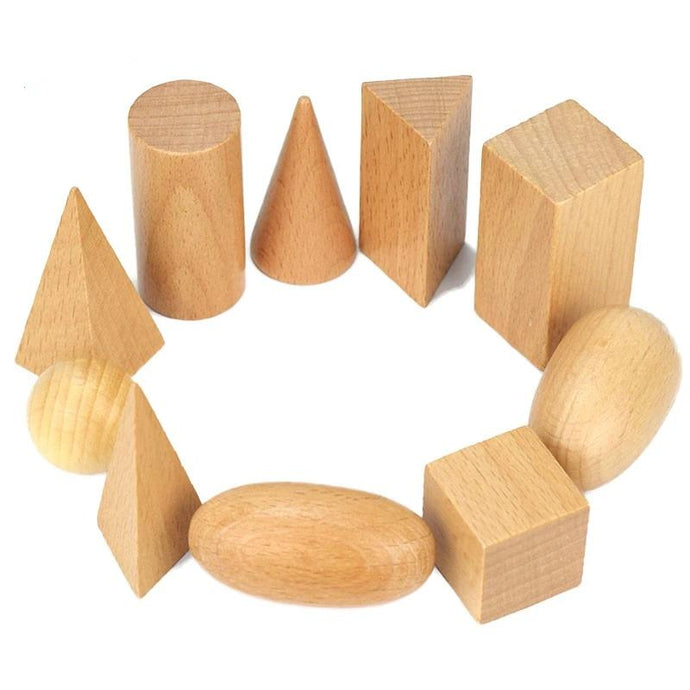 Geometrics wooden solids - Montessori material - Wood N Toys