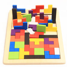 Load image into Gallery viewer, Wooden Tetris Puzzle - Educational material - Wood N Toys