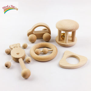Wooden Baby set - Toddler toys - Wood N Toys