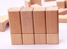 Load image into Gallery viewer, Set of Wooden Blocks - Educational toy - Wood N Toys
