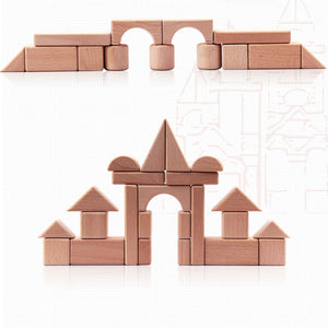 Set of Wooden Blocks - Educational toy - Wood N Toys