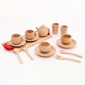 Wooden drinking toy set - Wood N Toys