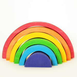 Rainbow Stacker for toddler - Educational Toys - Wood N Toys
