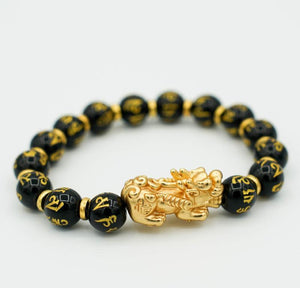 24K Piyao with Mantra Clear Bracelet