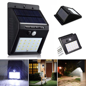 20 LED Solar Wall Light