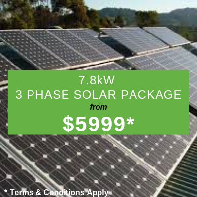 7.8kW Solar 3 Phase Solar Package from