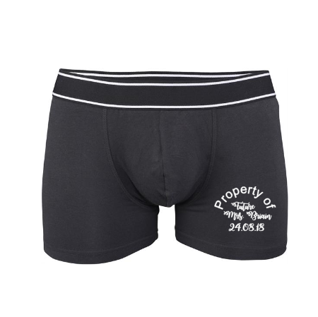 Personalised Black Property of Underwear