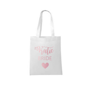 Personalised Bridal Party Cotton Tote Bag