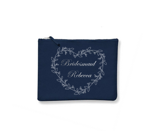 Personalised Make-Up Bags Navy