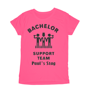 Bachelor Support Team Stag Do Design