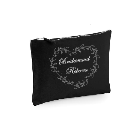 Personalised Make-Up Bags Black