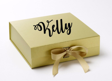 Will You Be My? Personalized Gift Box Gold