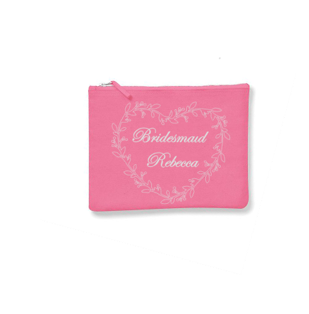Personalised Make-Up Bags Pink