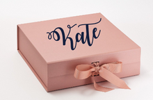 Load image into Gallery viewer, Will You Be My? Personalized Gift Box Rose Gold