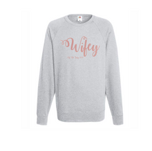 Load image into Gallery viewer, Personalized Wifey Sweatshirt
