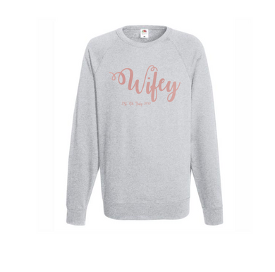 Personalized Wifey Sweatshirt