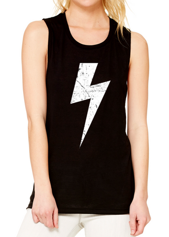Women's Distressed Bolt Muscle
