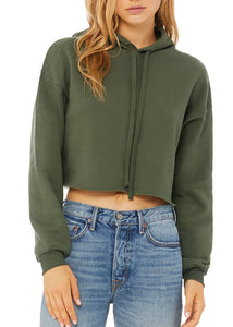 Cropped Hoodie Military Green
