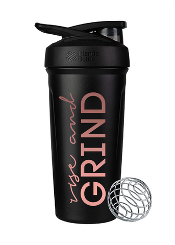 Blender Bottle Insulated Rise + Grind ROSE GOLD