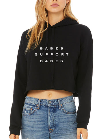 Babes Support Babes Cropped Hoodie