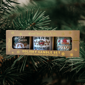 Good & Well Supply Co. - Seasons Greetings Holiday Mini Candle Gift Set