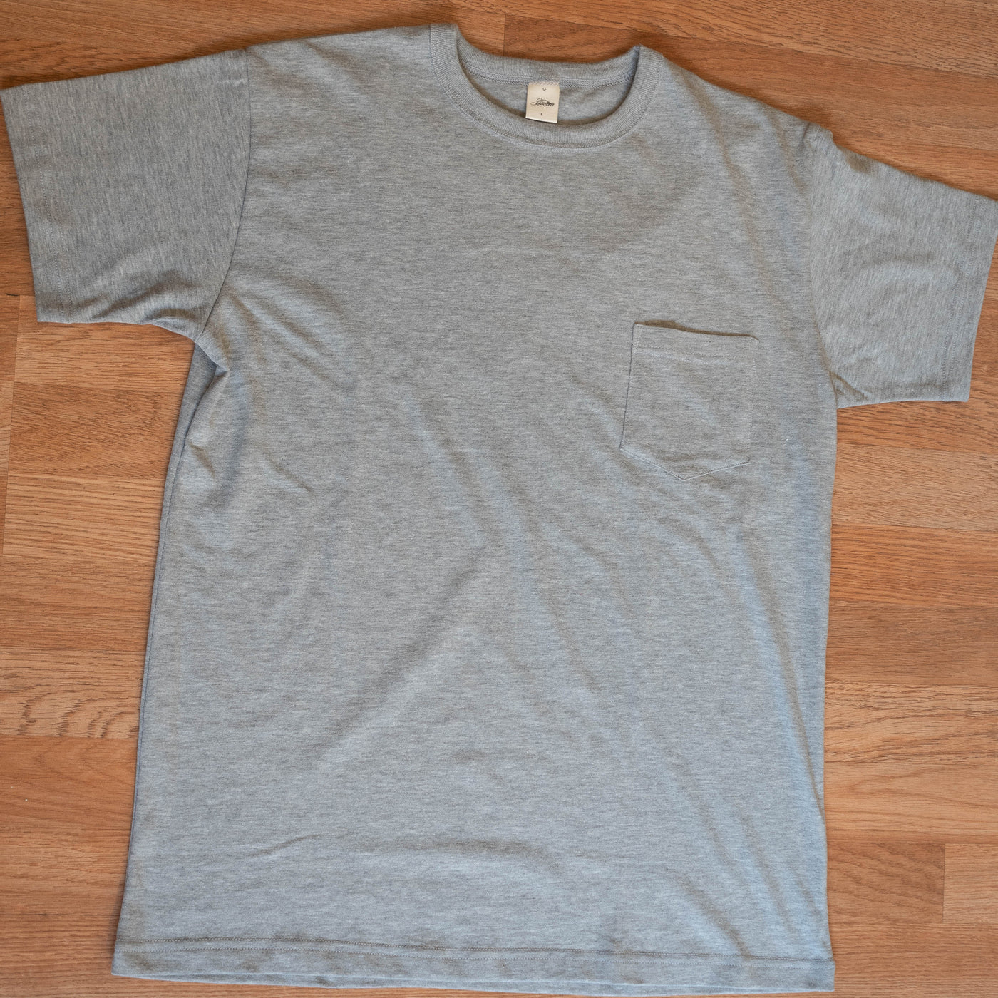 Heavy Weight Pocket Tee - Grey - Short Sleeve