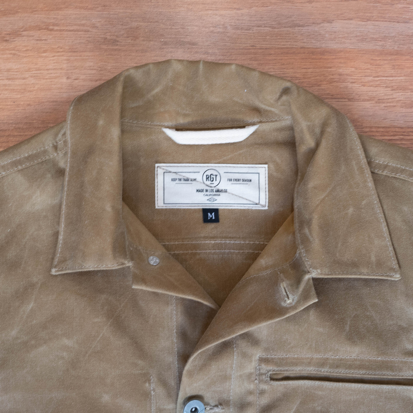 Ridgeline Supply Jacket - Tan Waxed Canvas
