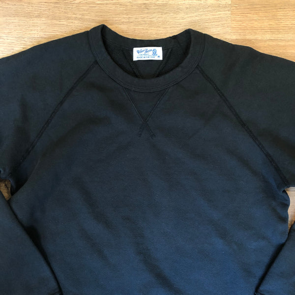 Raglan Crewneck 10oz Sweatshirt - Black