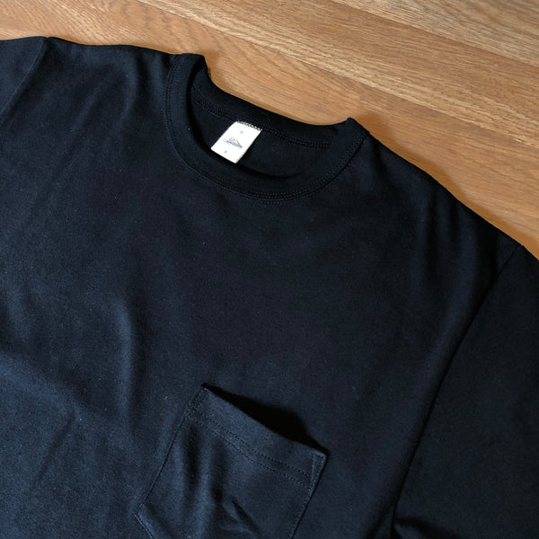 Heavy Weight Pocket Tee - Black - Short Sleeve