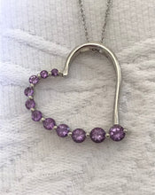 Load image into Gallery viewer, Heart Shape Amethyst Sterling Silver Necklace