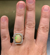 Load image into Gallery viewer, Large 2.87CT Opal and diamond Ring