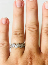 Load image into Gallery viewer, Baguette & Solitaire White Diamond Ring