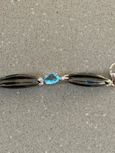 Load image into Gallery viewer, Topaz, Diamond & black Enamel Bracelet