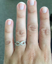 Load image into Gallery viewer, Sterling Silver Infinity Diamond Ring