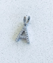 Load image into Gallery viewer, Initial letter Diamond A Necklace Pendant White Gold