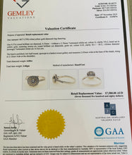 Load image into Gallery viewer, Women's new genuine diamond engagement ring white gold val $7580
