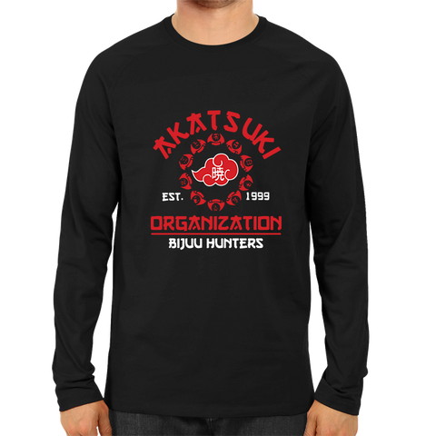 Akatsuki Organisation Full Sleeve Black