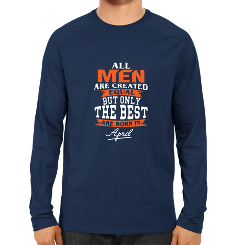 All men are created equal April -Full Sleeve Navy Blue