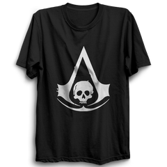 Assassin's Creed Black Flag Logo Half Sleeve Black