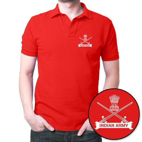 Indian_Army_Polo_T-shirt_-Red