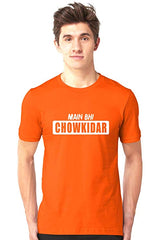 Mai-Bhi-Chowkidar-Orange-Half-Sleeve