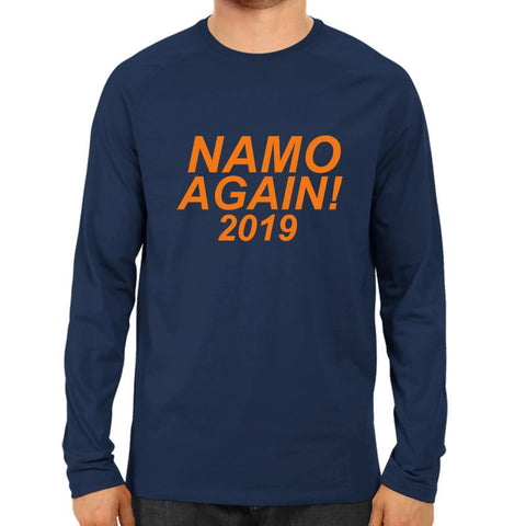 Namo Again 2019 -Full Sleeve Navy Blue
