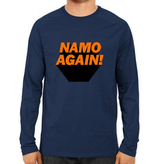 Namo Again -Full Sleeve Navy Blue