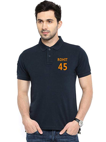 Rohit-45-Black-Polo-T-Shirt