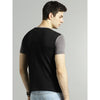 Image of Men Black & Charcoal Grey slim fit Blocked Round Neck T-shirt