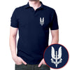 Image of Who_Dare_Wins_Polo_T-shirt_-Navy_Blue