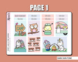 Luna & Star Camping Hobonichi Cousin Sticker Kit