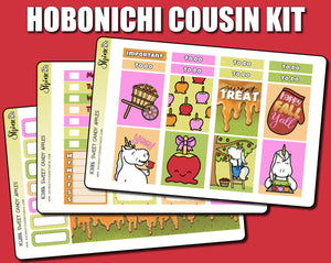Sweet Candy Apples Hobonichi Cousin Sticker Kit