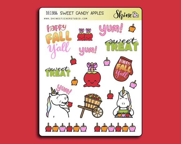 Sweet Candy Apples Deco Stickers