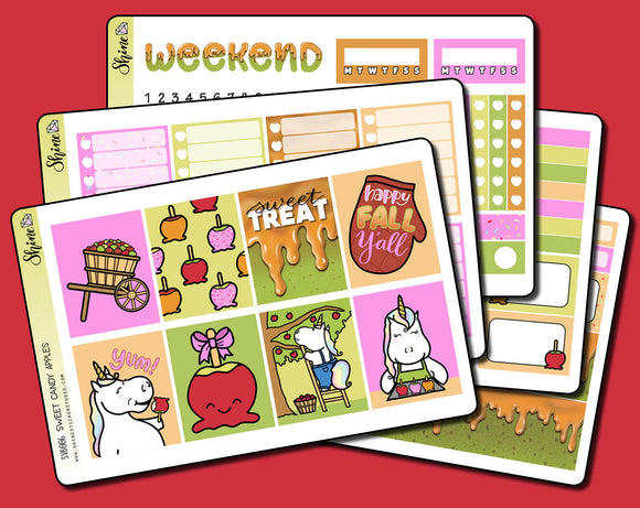 Sweet Candy Apples - Vertical Weekly Sticker Kit